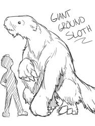 Giant Ground Sloth by CarbonComic