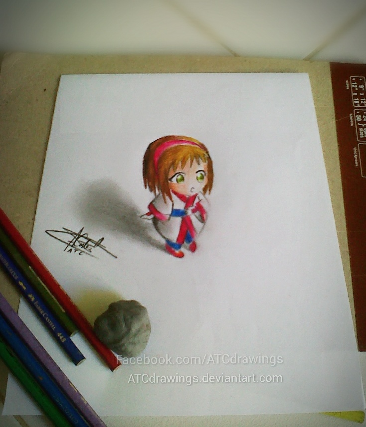 Anime chibi 3d drawing by atcdrawings