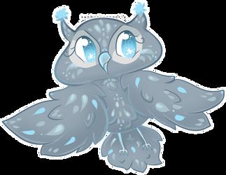 Frostie the Owl by TehButterCookie
