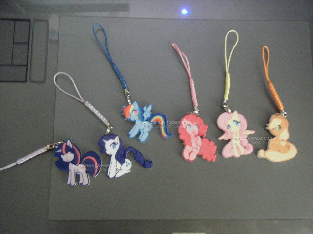 MLP Acrylic Charms for sale ( out of stock ) by TehButterCookie