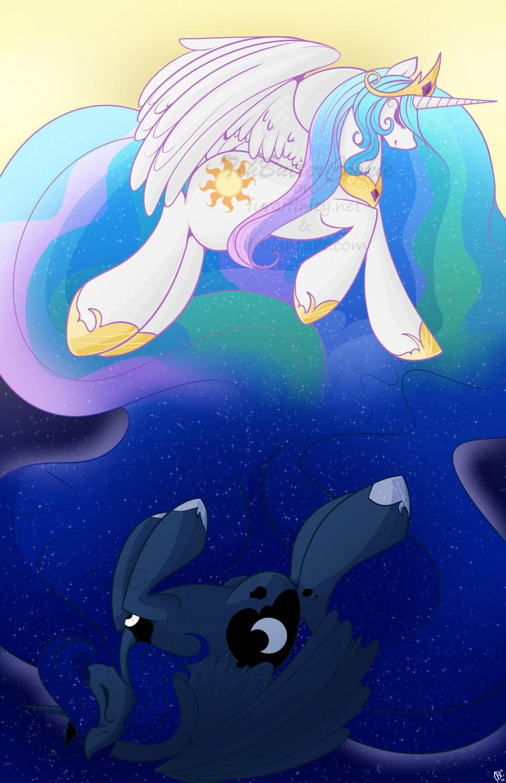 Celestial Sisters by TehButterCookie