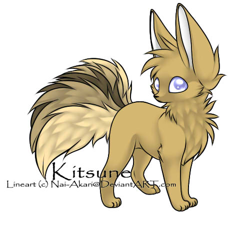 Golden Kitsune Point Adoptable by AnnikaGoddess