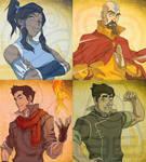 Legend of Korra Four Elements Wallpaper