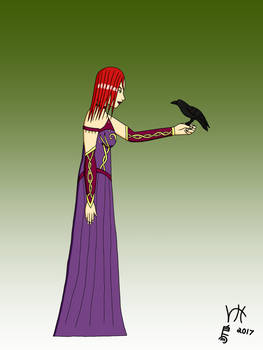 Sorceress and Her Raven