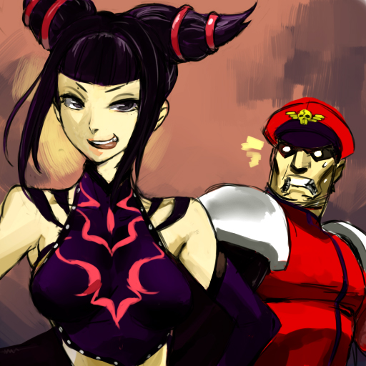 Day 1: Juri x Bison by Rezarius