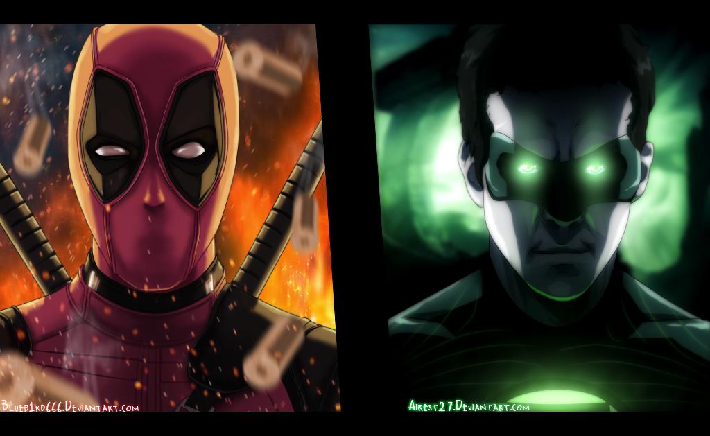 Deadpool and Green Lantern Marvel Color by DiabloALG
