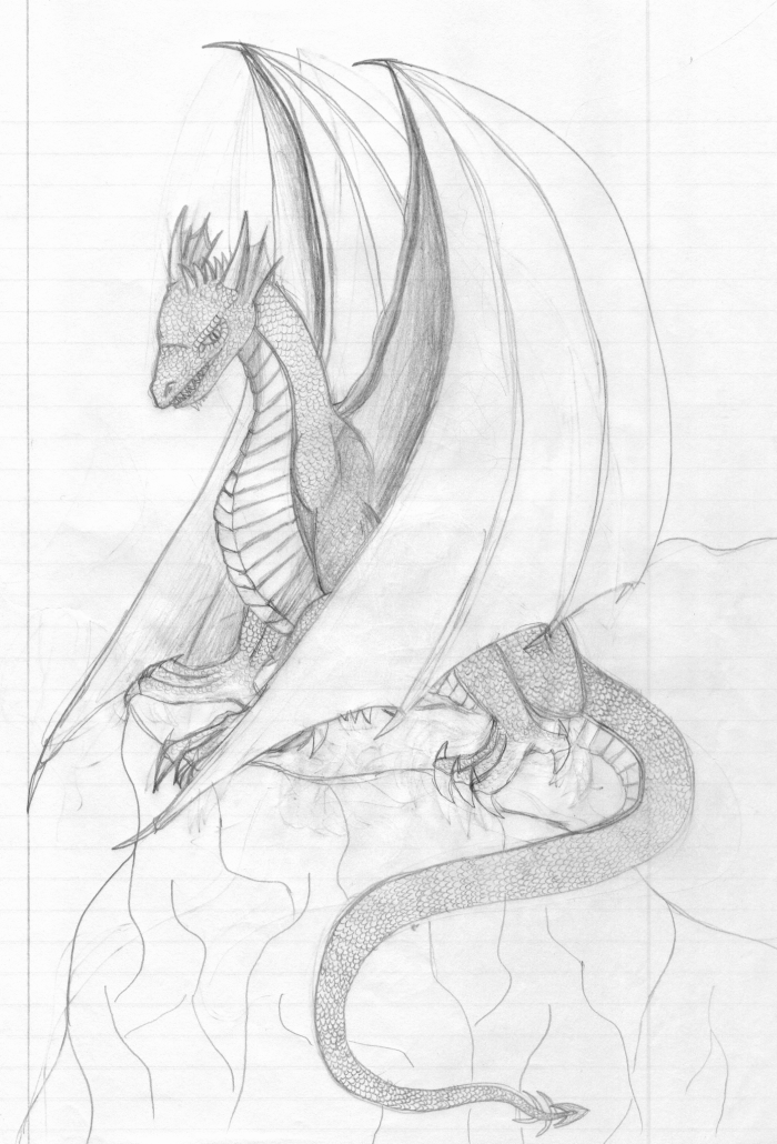how to draw a really cool dragon