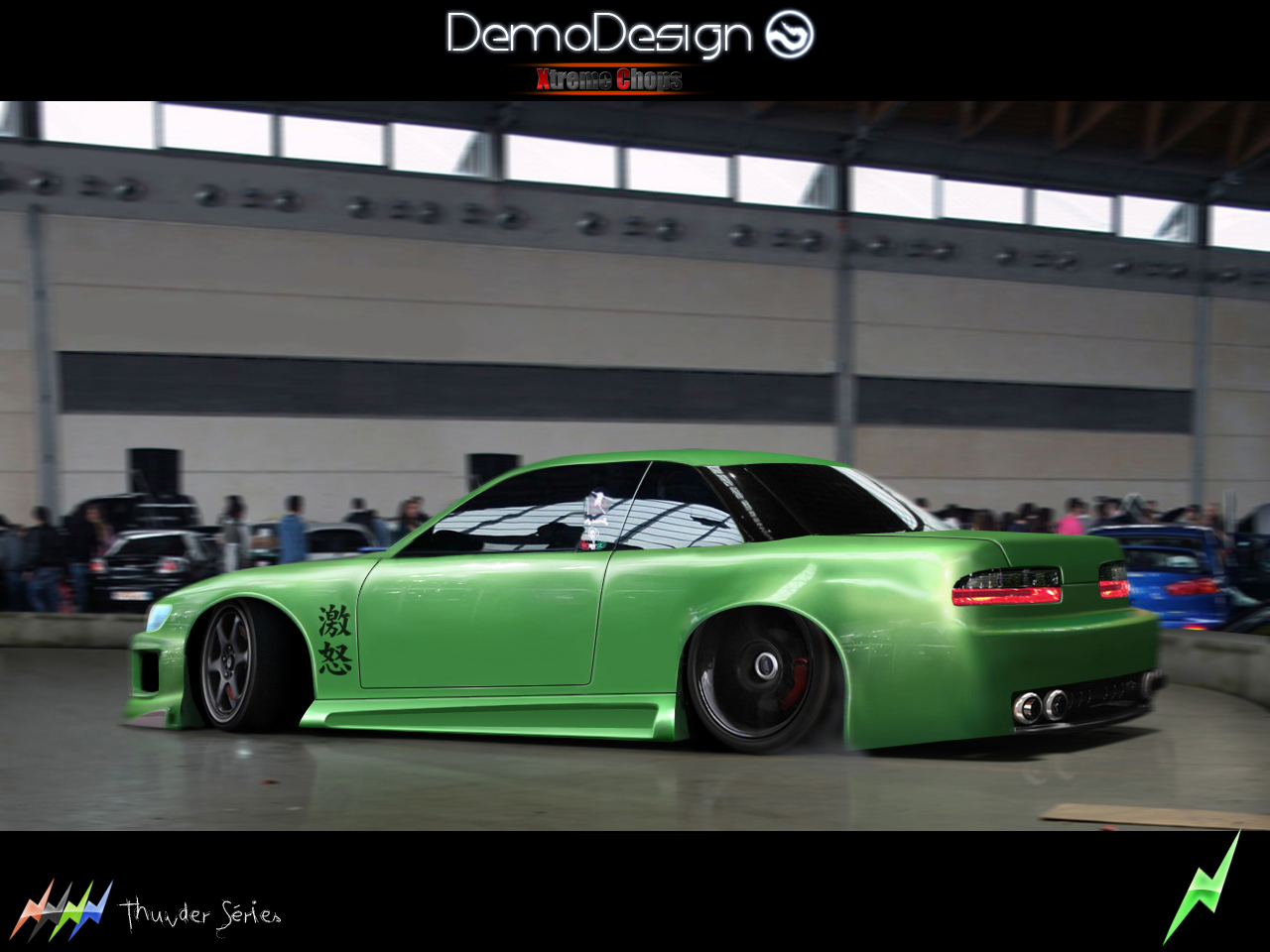 nissan silvia s13 drift show by demodesign