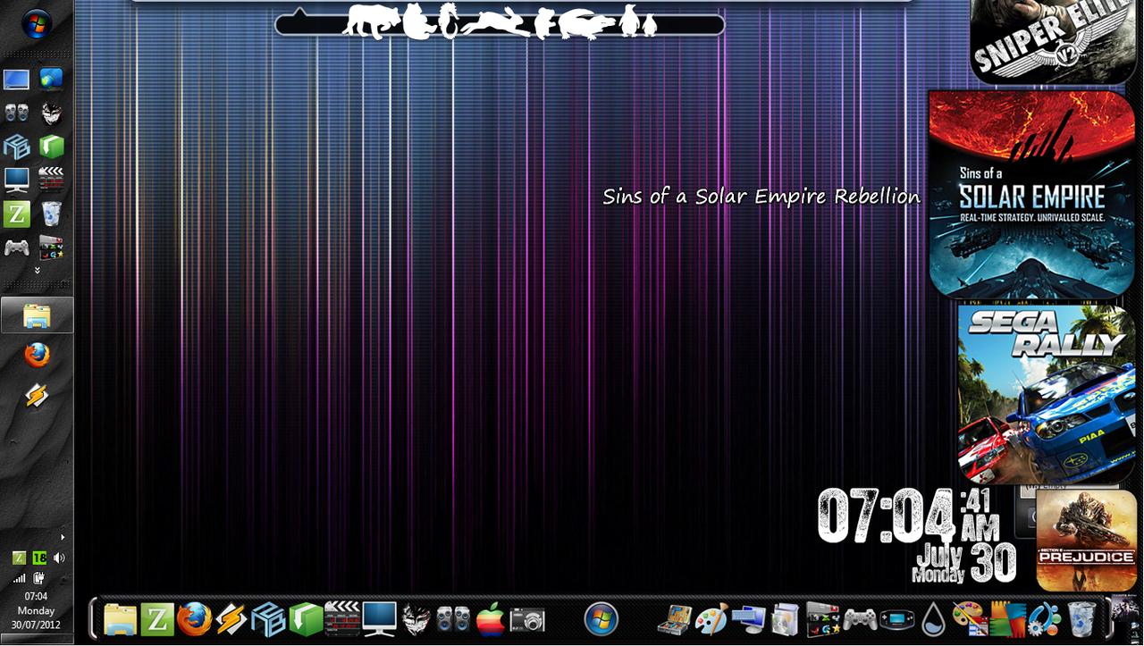 Desktop Experiments! [17]WinBlinds/Rain/ObjectDock by Rhyz66