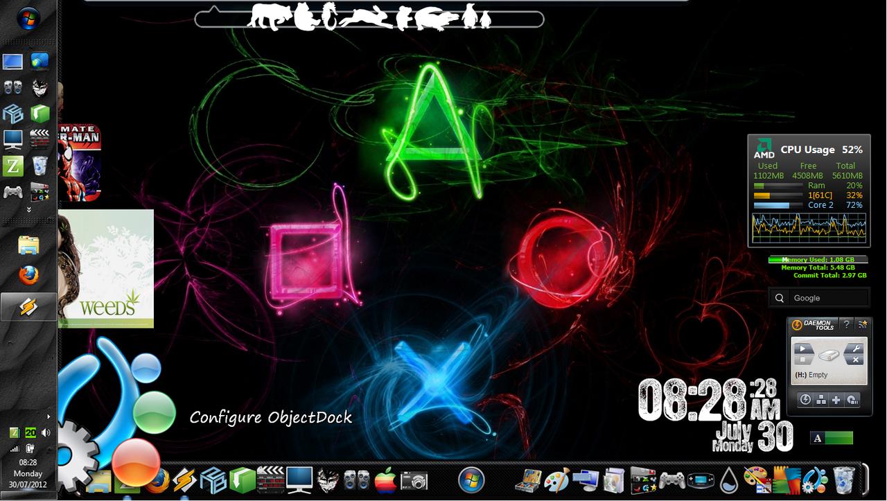 Desktop Experiments! [20]WinBlinds/Rain/ObjectDock by Rhyz66