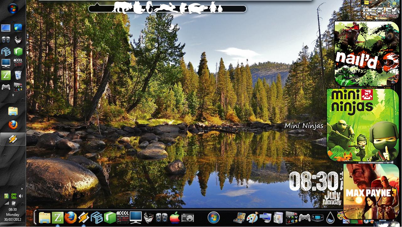 Desktop Experiments! [21]WinBlinds/Rain/ObjectDock by Rhyz66
