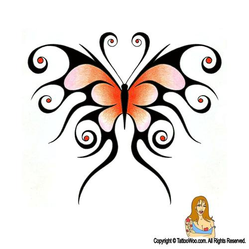 Tribal butterfly design - photo#24