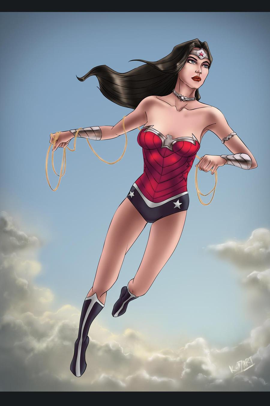 wonder woman new 52 commission fan art by k-d-art