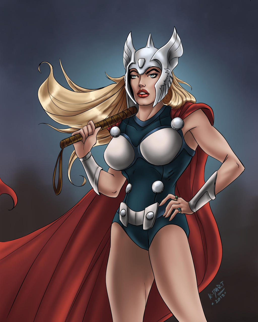 Lady Thor By Kdart by k-d-art