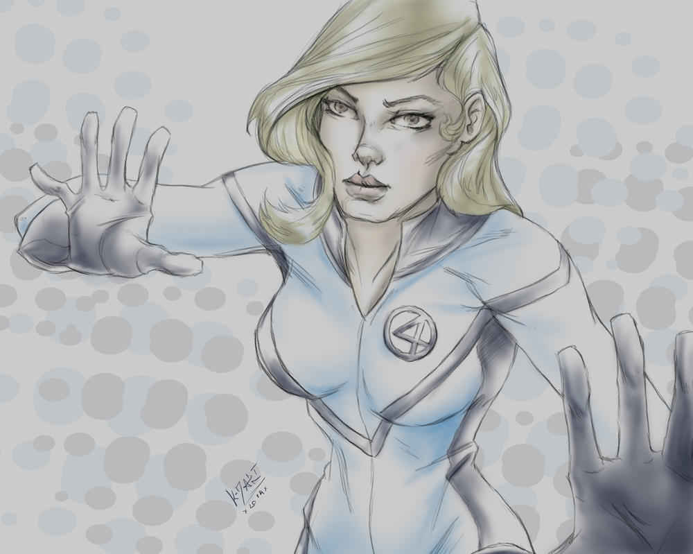 Susan Storm from fantastic 4 sketch by kdart by k-d-art