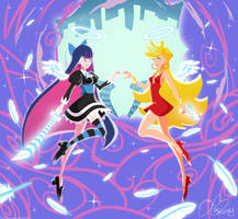 Panty and Stocking by Olive-In-Pinkland
