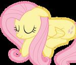 Sleeping Fluttershy Vector