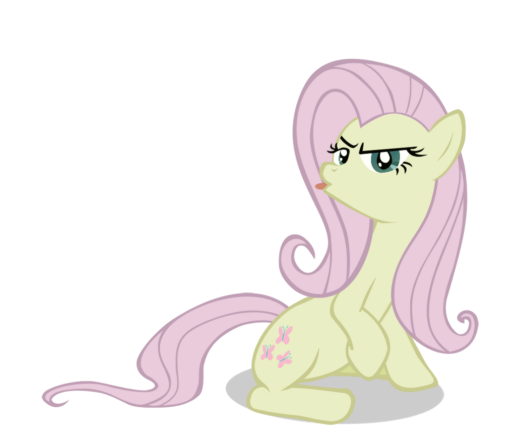 Sassy Fluttershy Vector by AncientKale
