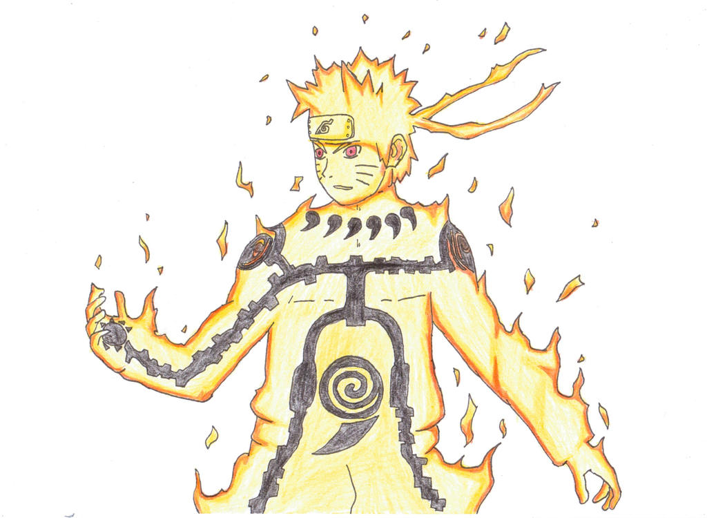 Naruto Nine Tails Chakra Mode by Narut0Draw on DeviantArt