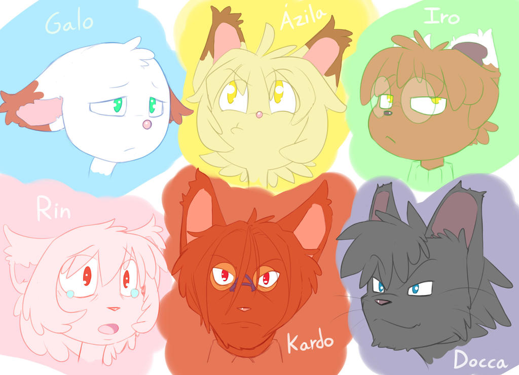 My fictional cats by Galo27