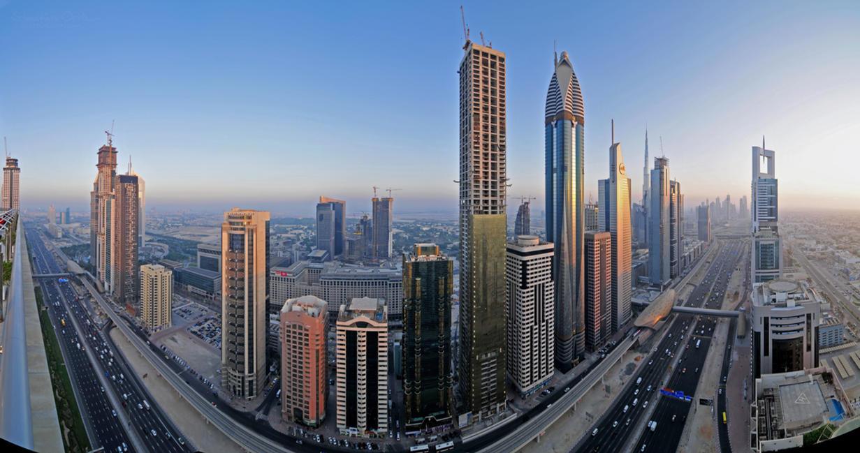 Sheikh Zayed Road Panorama by VerticalDubai