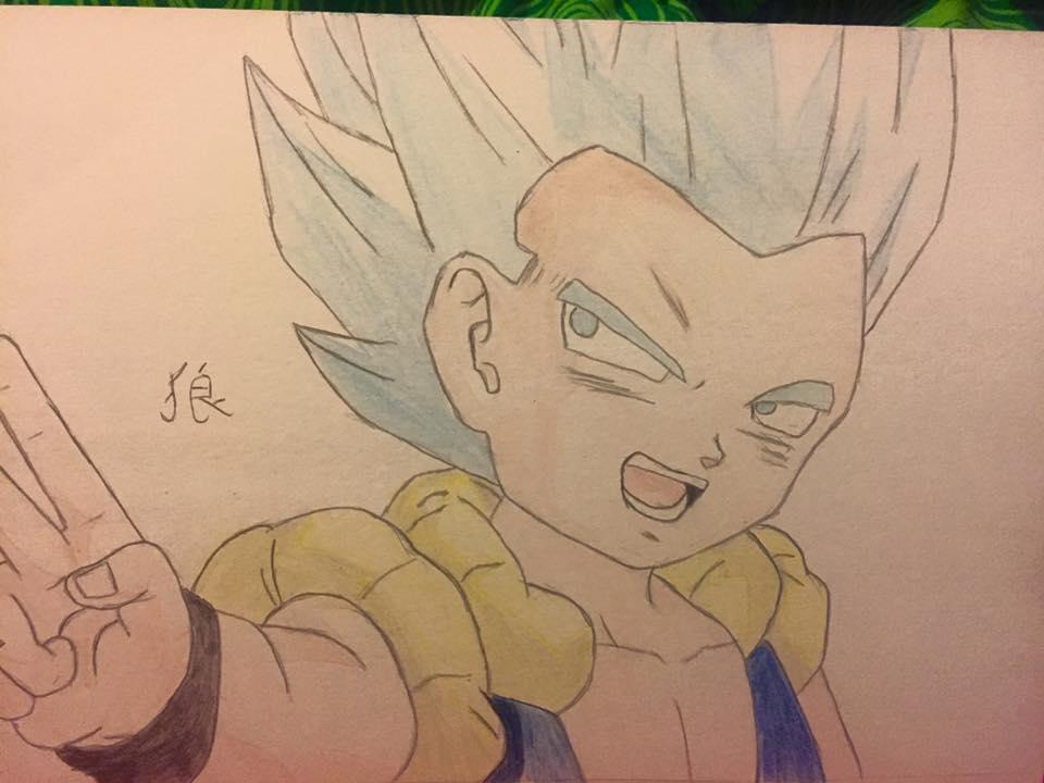 Gotenks, Super Sayan Jin Blue. Dragon Ball Super. by Razenyka