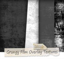Grungy film overlay textures by Mephotos