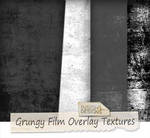 Grungy film overlay textures
