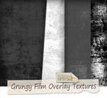 Grungy film overlay textures