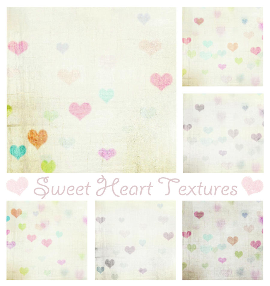 Vintage Sweet Heart Textures by Mephotos