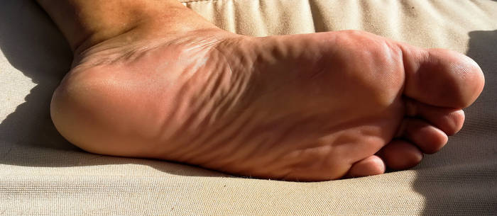 my left foot sole