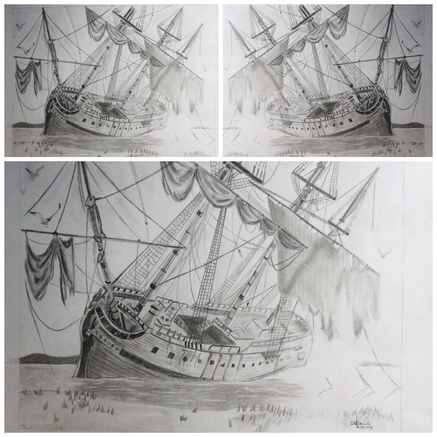 Shipwreck Drawing By BriceDaniels On DeviantArt
