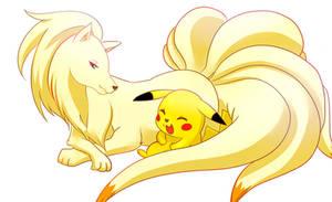 Ninetales and Pikachu!