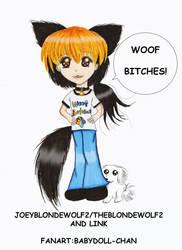 JoeyBlondeWolf2/TheBlondeWolf2 and Link by Babydoll-chan