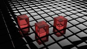 3D Glass Cubes