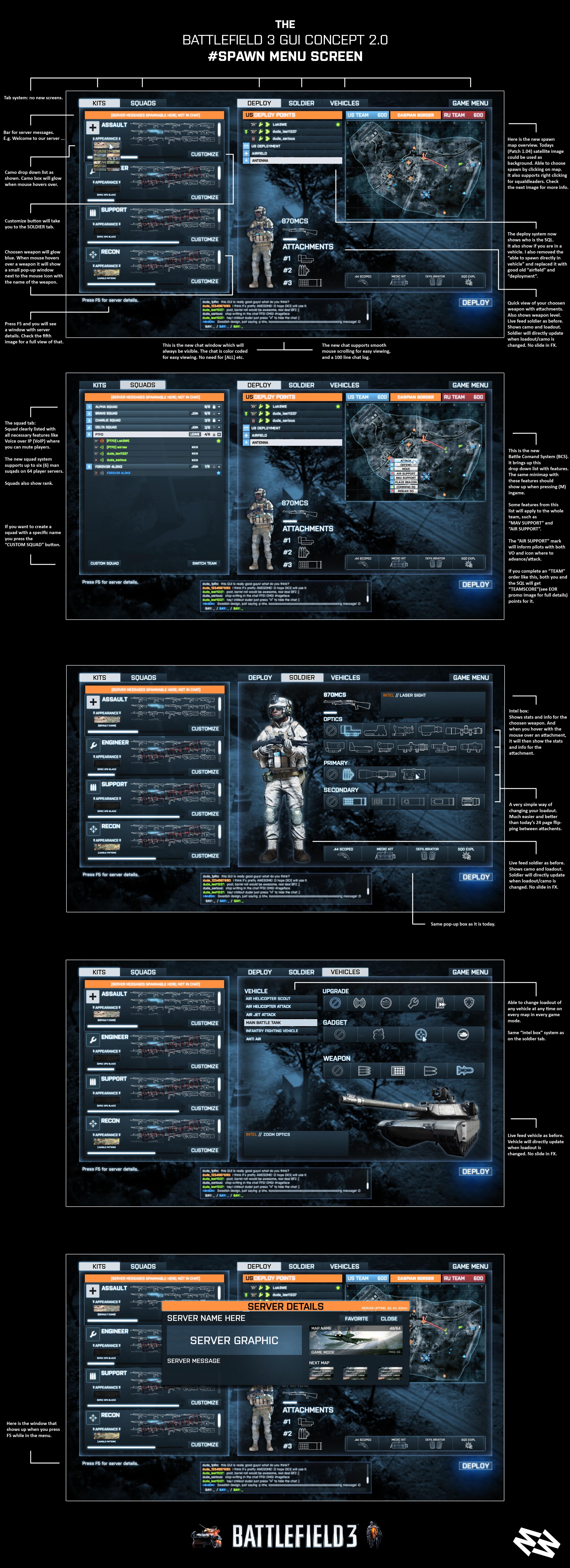 Battlefield 3 #SPAWN MENU SCREEN by wirrew