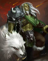 Whiteclaw Orc Hunter by Palaciosni