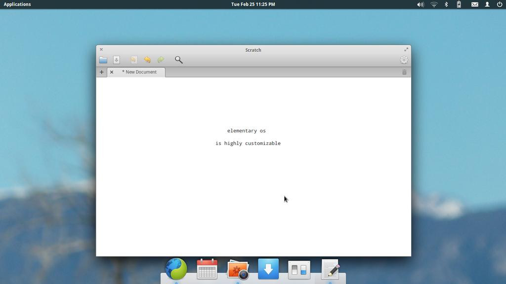 Screenshot of elementary os by markmayhew