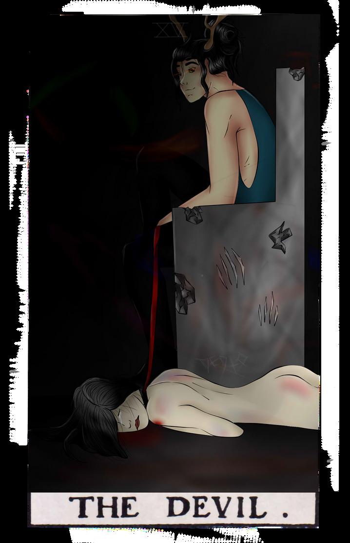 Tarot XV - THE DEVIL by Dedto