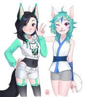 YCH: #1 N3k0manc3r and Koko by Xiriline