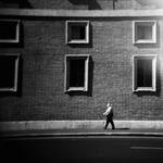 Man and a building