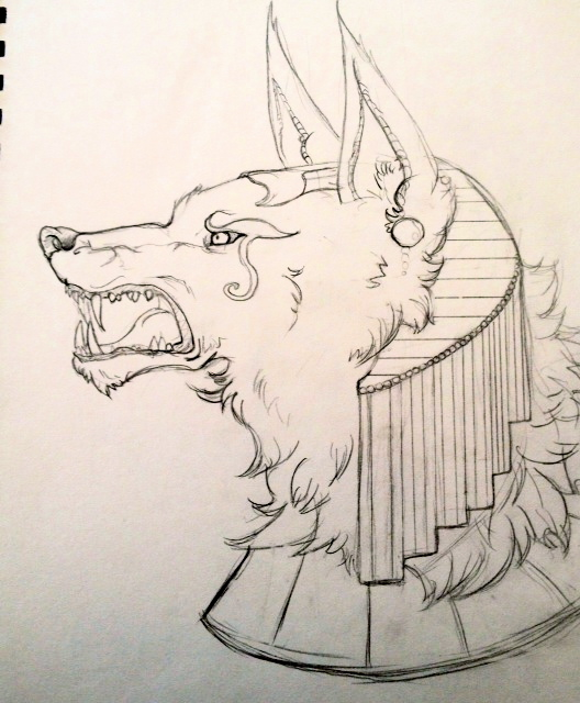 Anubis Sketch by cattuccino