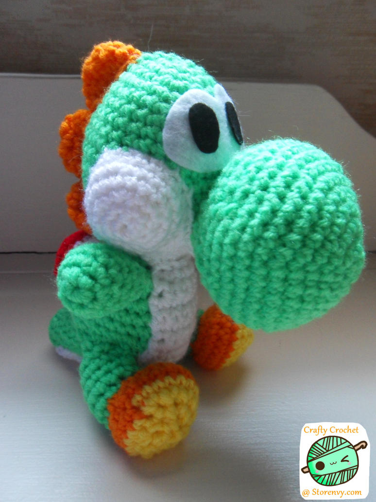 Crochet Yoshi : Yoshi Amigurumi (Updated) by DarkAngelYoshi on DeviantArt