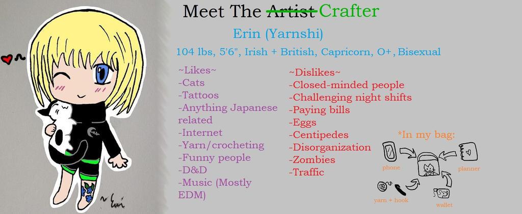 Meet The Artist/Crafter by DarkAngelYoshi
