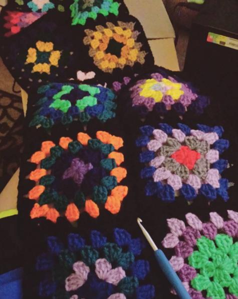 Traditional Granny Square Blanket by DarkAngelYoshi