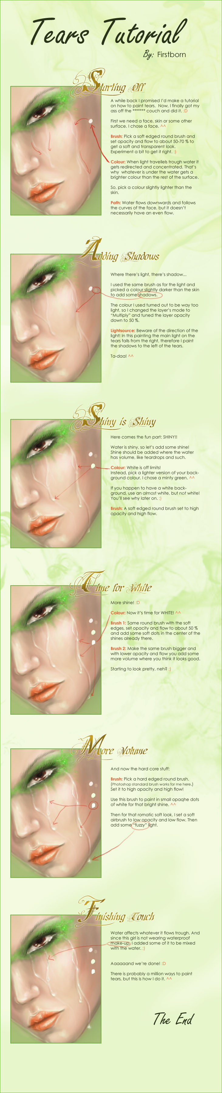 Tears Tutorial By Firstborn On DeviantArt