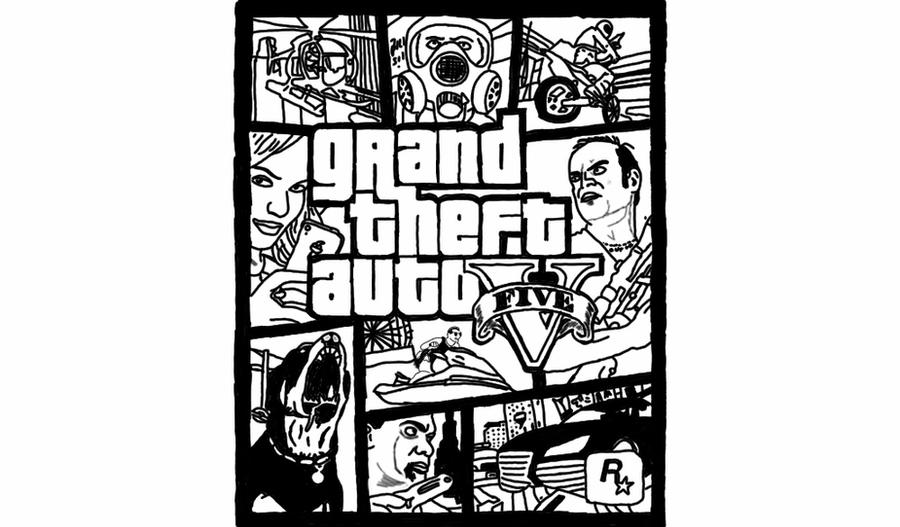 gta 5 car coloring pages   Grand Theft Auto Game Cover by Luko1798 on DeviantArt