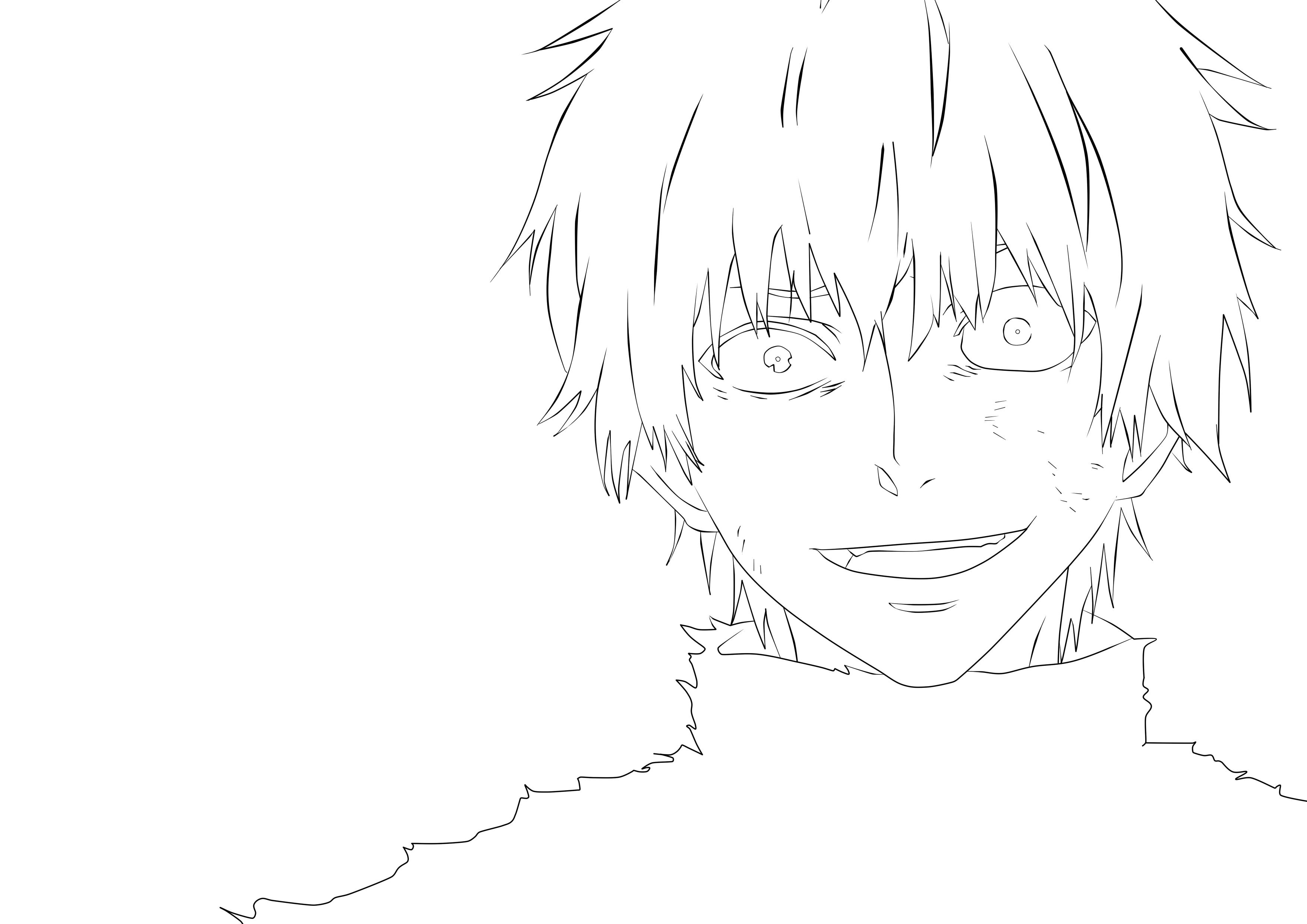 Easy Drawing Tokyo Ghoul Kaneki Ken Sketch Coloring Page