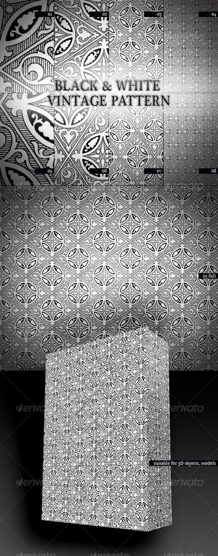 Black n White Vintage Pattern by boeenet