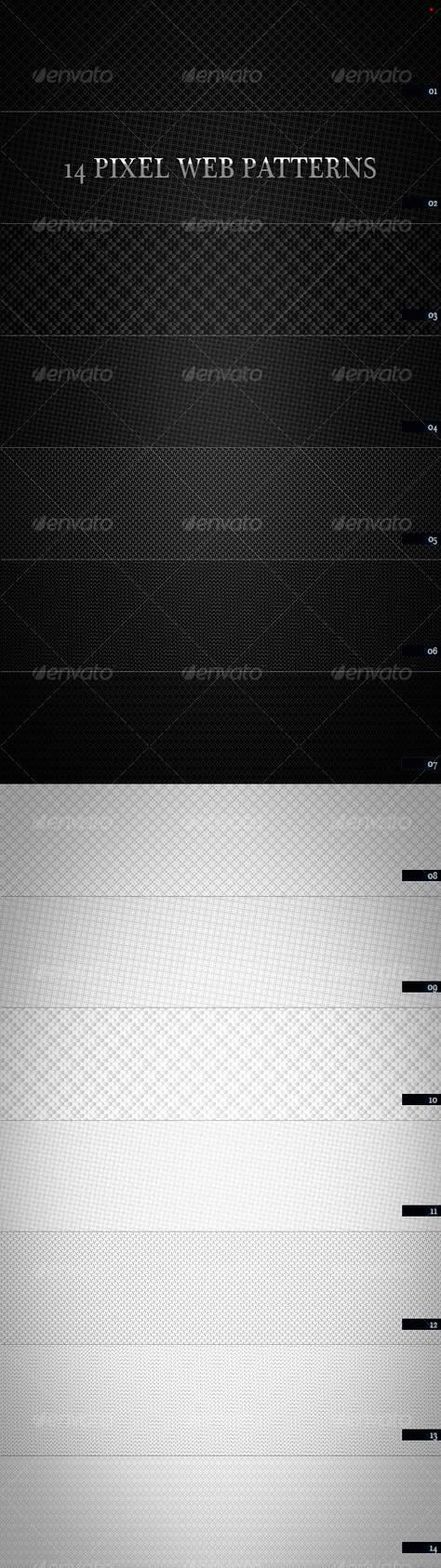 14 Pixel Web Pattern by boeenet